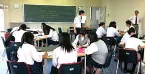 武蔵野学院大学での講義の様子